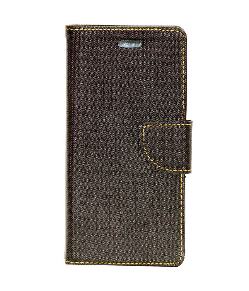 cheap for discount 58f59 80ea2 Gizmofreaks Flip Cover For Lava Iris Pixel V1 - Brown