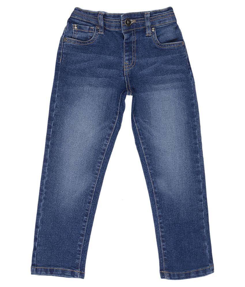 Nauti Nati denim Solids  Blue PANTS For Kids