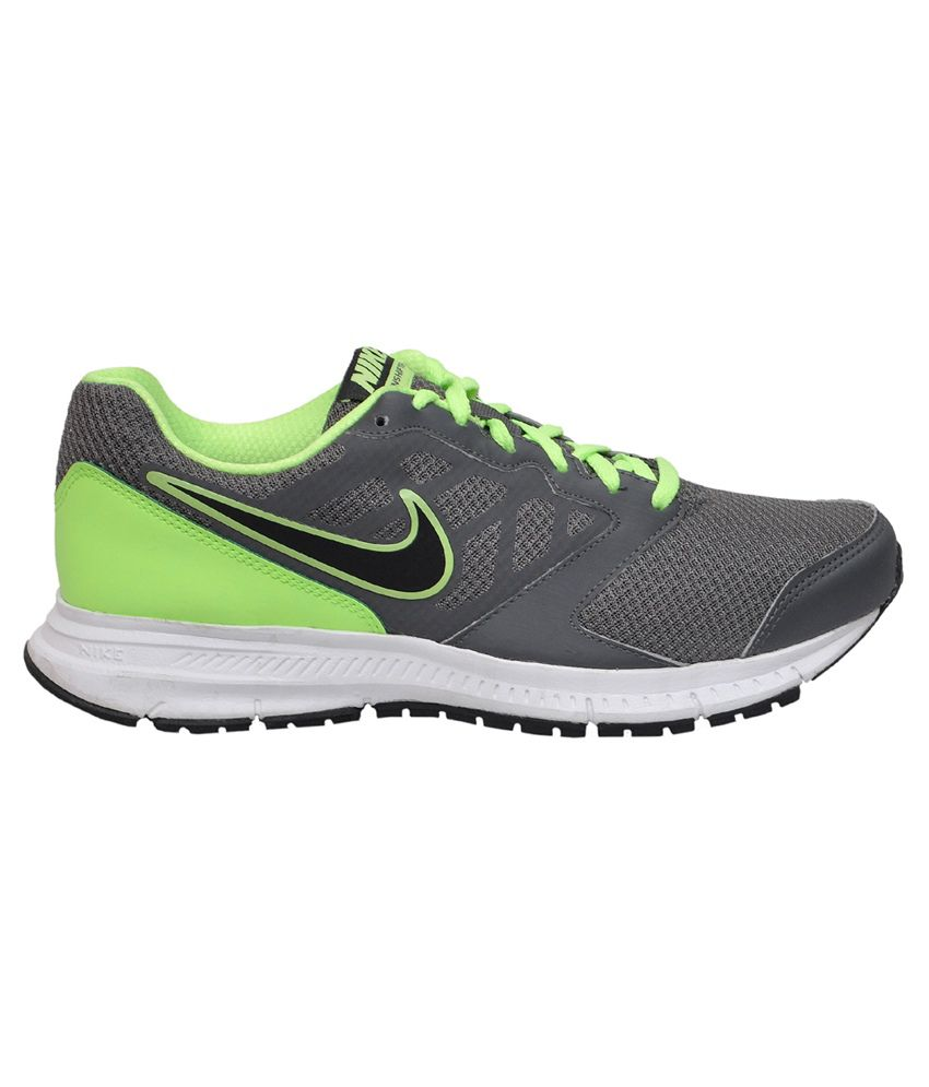 395ad42e560e8 ... Nike Downshifter 6 MSL Grey and Light Green Sports Shoes Art N684658016  ...