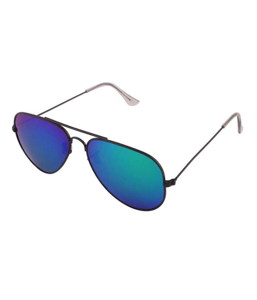 Rissachi Rs071 Blue Metal Aviator Sunglasses For Men