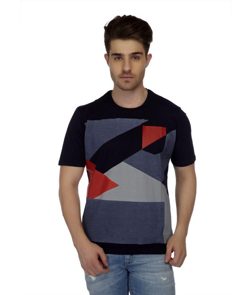 Riverinc Black Cotton Blend T-shirt