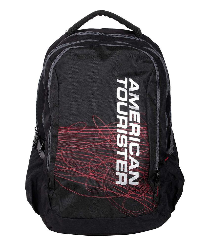 American Tourister Ebony Black Backpack