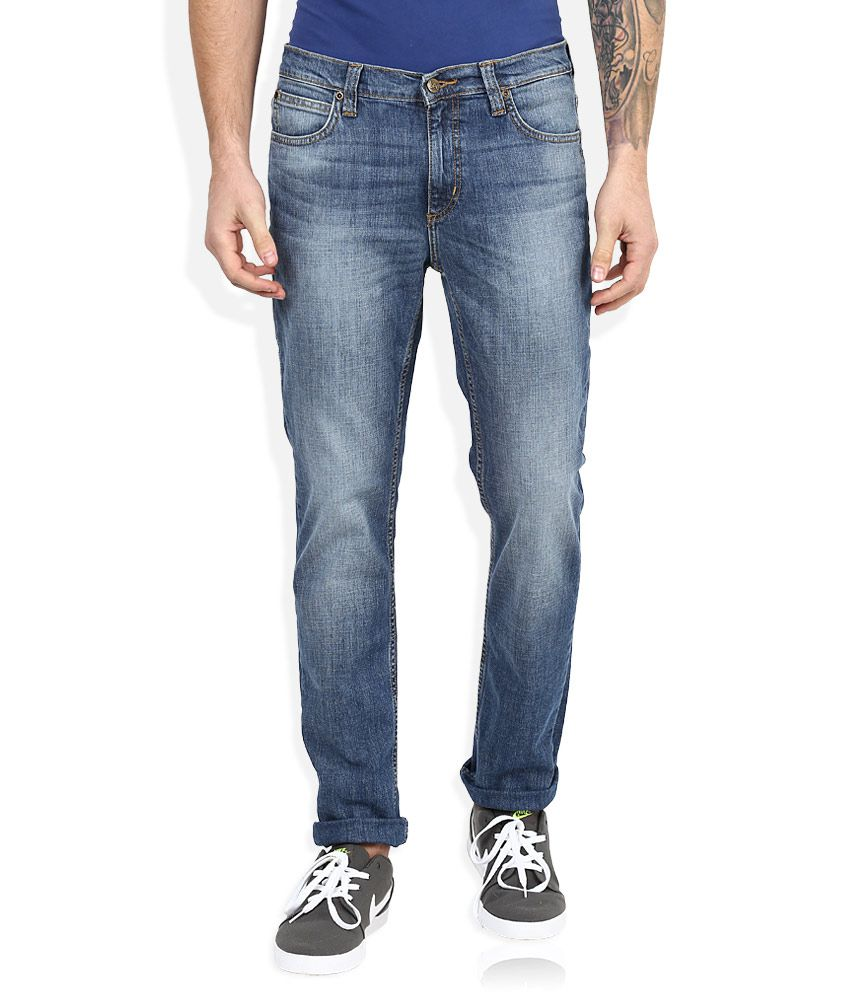Lee Blue Light Wash Slim Fit Jeans