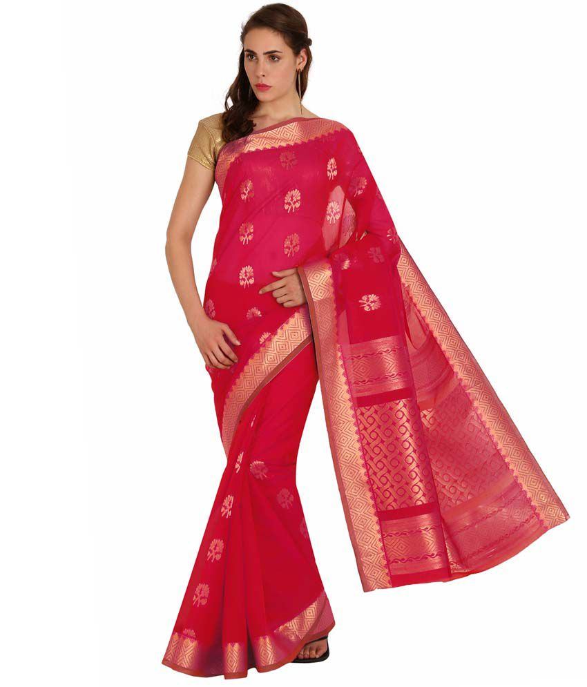 Pratamika Red Silk Saree