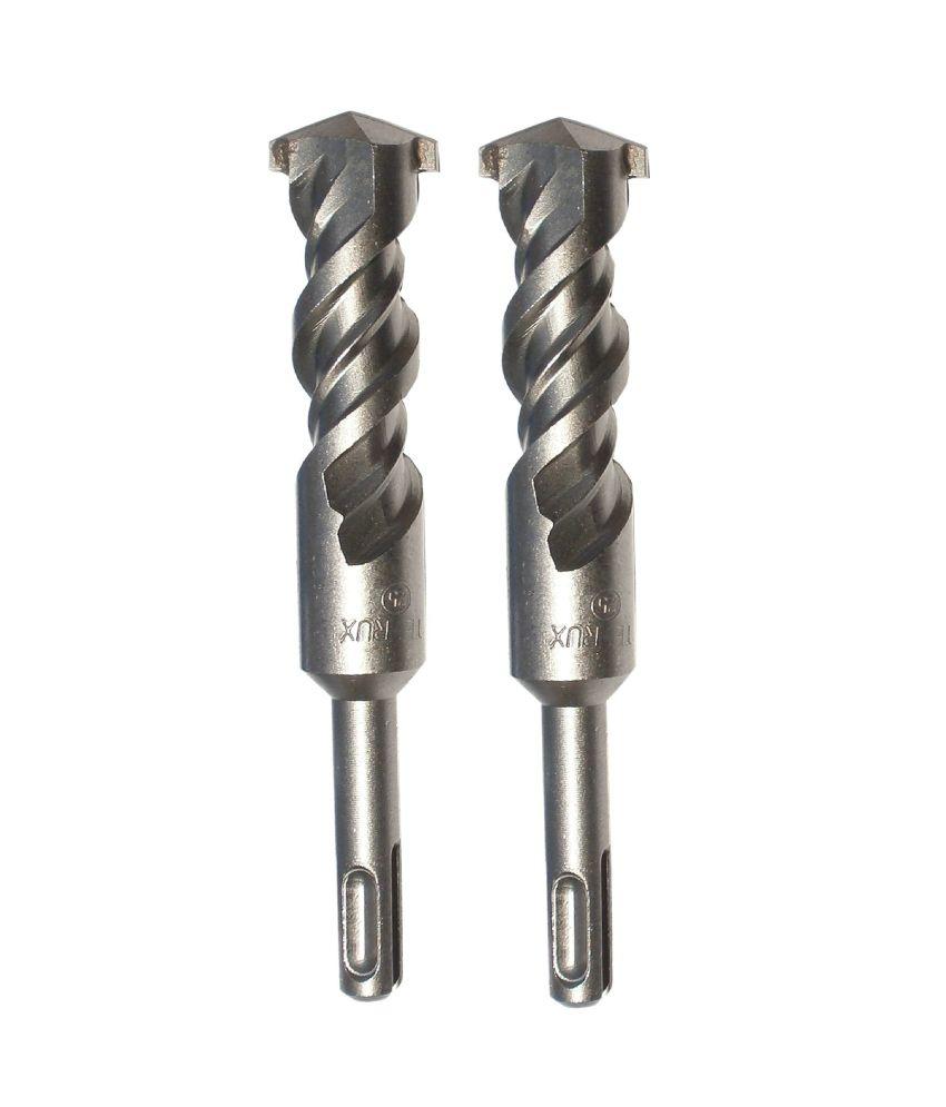 Te-Rux SDSP25410-2 SDS Plus Hammer Drill Bit (25 x 410, Set Of 2)