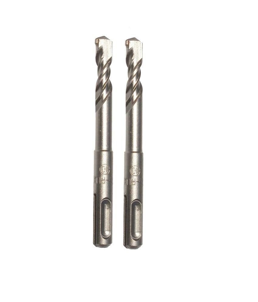 Te-Rux SDSP10110-2 SDS Plus Hammer Drill Bit (10 x 110, Set Of 2)