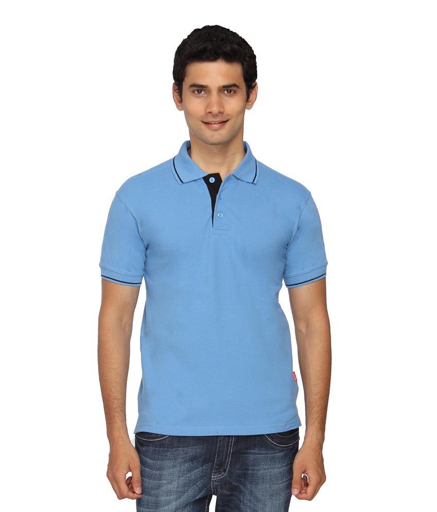 Urban Colors Scott Blue Cotton T-Shirt
