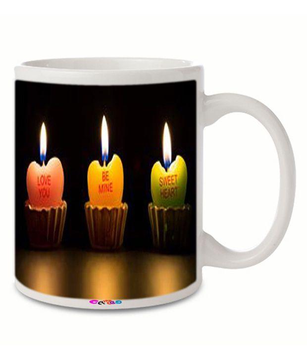 Cameo Multicolour Ceramic Mug - 350 Ml