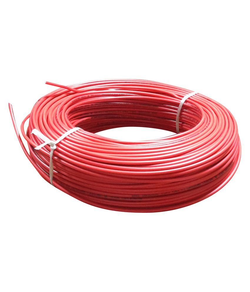 Buy Wipocab 2.5 Sq.mm Multi Strand Red Flexible Copper Wire Online ...