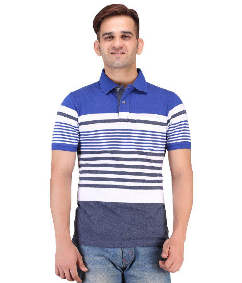Keywest Multicolour Cotton Polo T-shirt