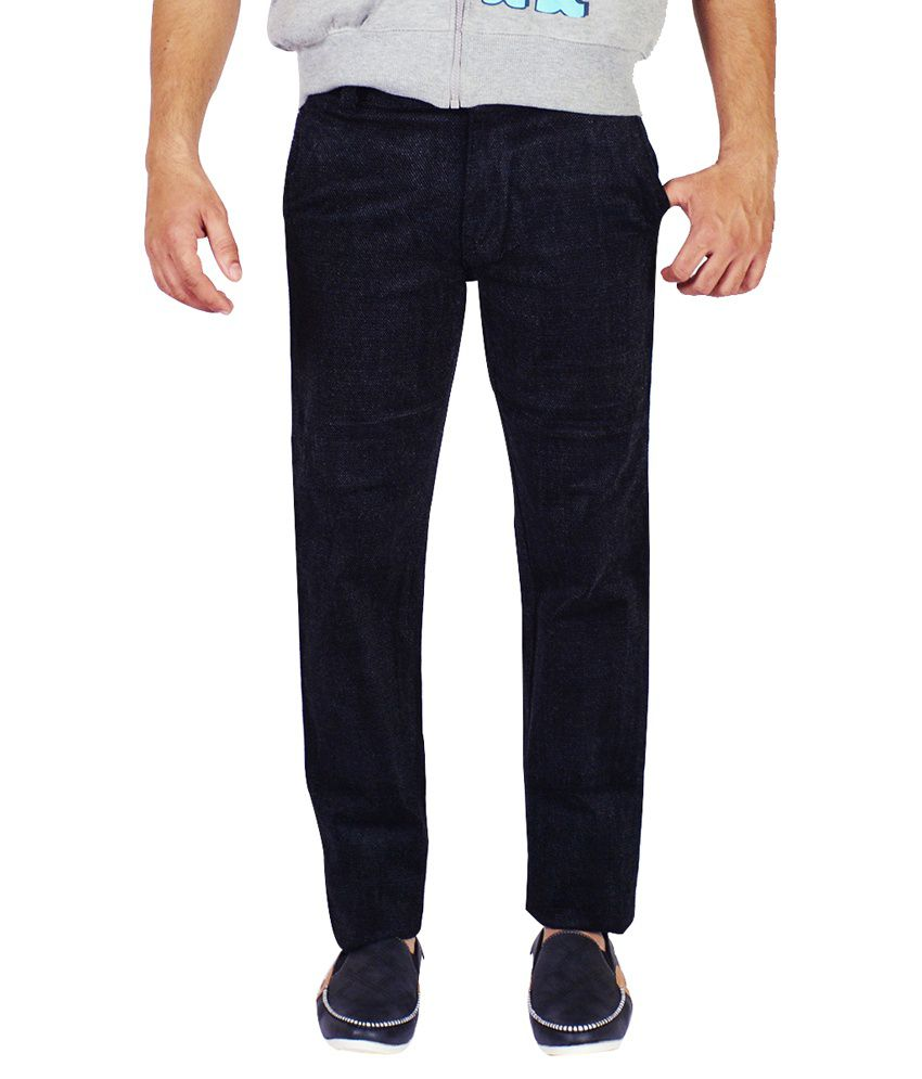 Lucky Black Regular Fit Casual Chinos - Set Of 6