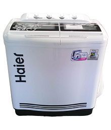 Haier 7.6 XPB 76 113 D / S Semi Automatic Top Load Washing Machine White