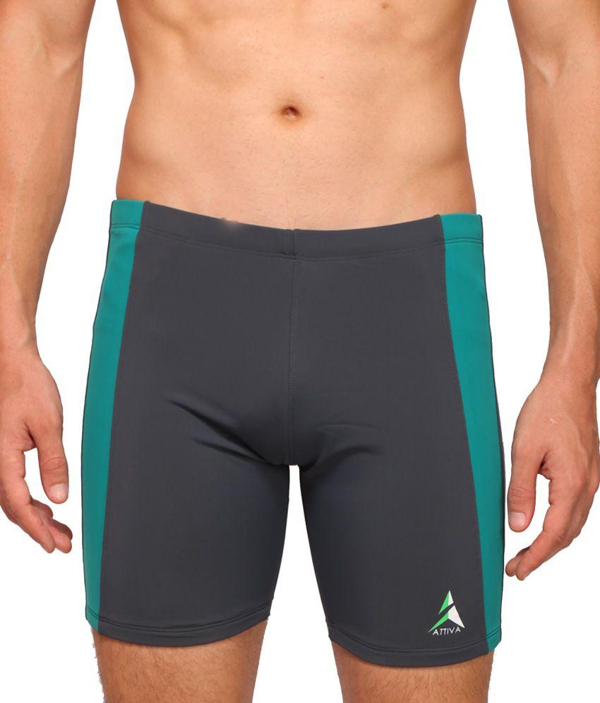 Attiva Grey Swimwear Shorts/ Swimming Costume