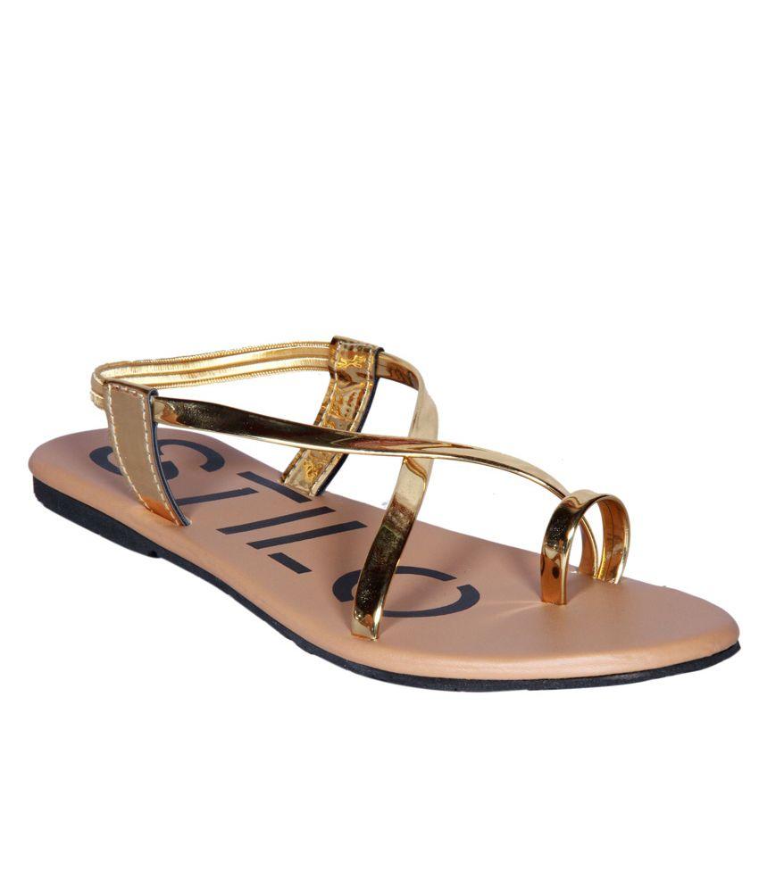 Stilo Step Gold Sandal