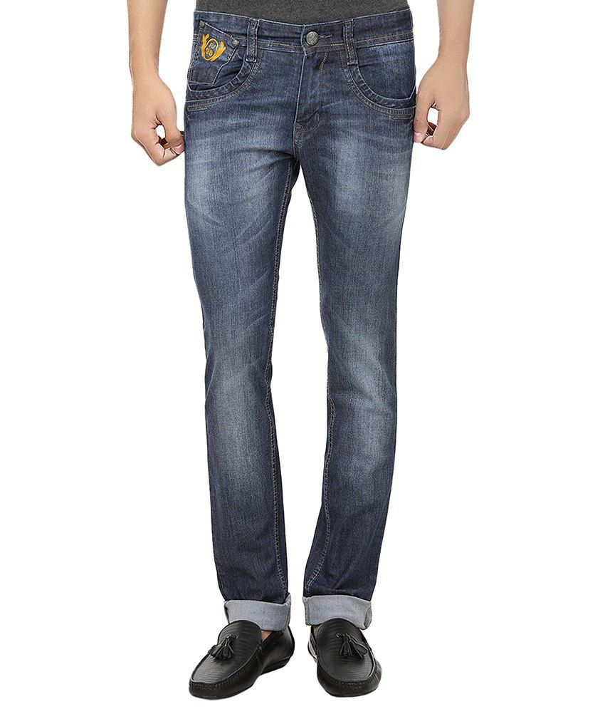 99 Degrees Blue Regular Fit Jeans