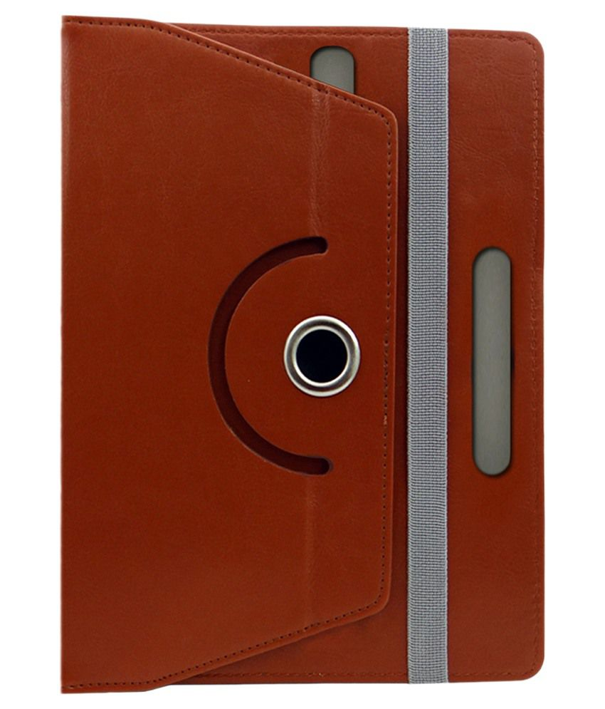 ACM Flip Cover for Nxi Fabfone Next Tab - Brown