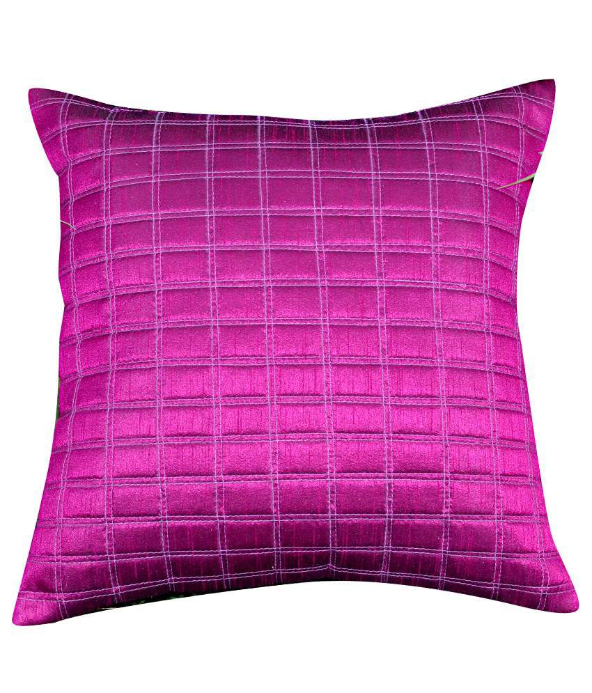 CushionCasa Magenta Plain Cushion Cover
