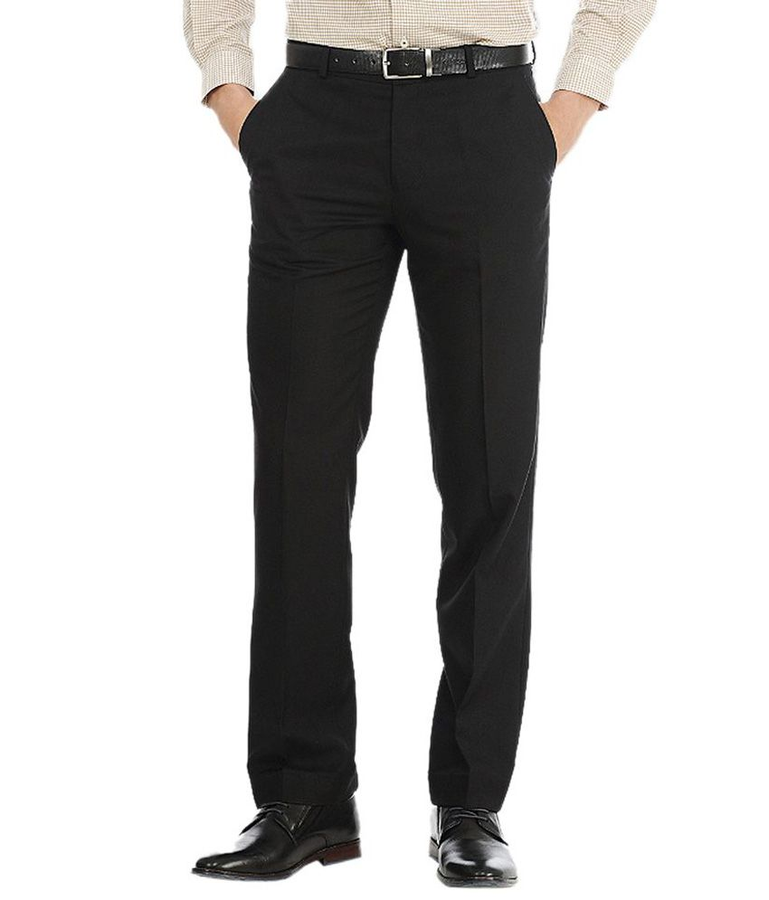 Badhkul Garments Black Cotton Blend Trouser