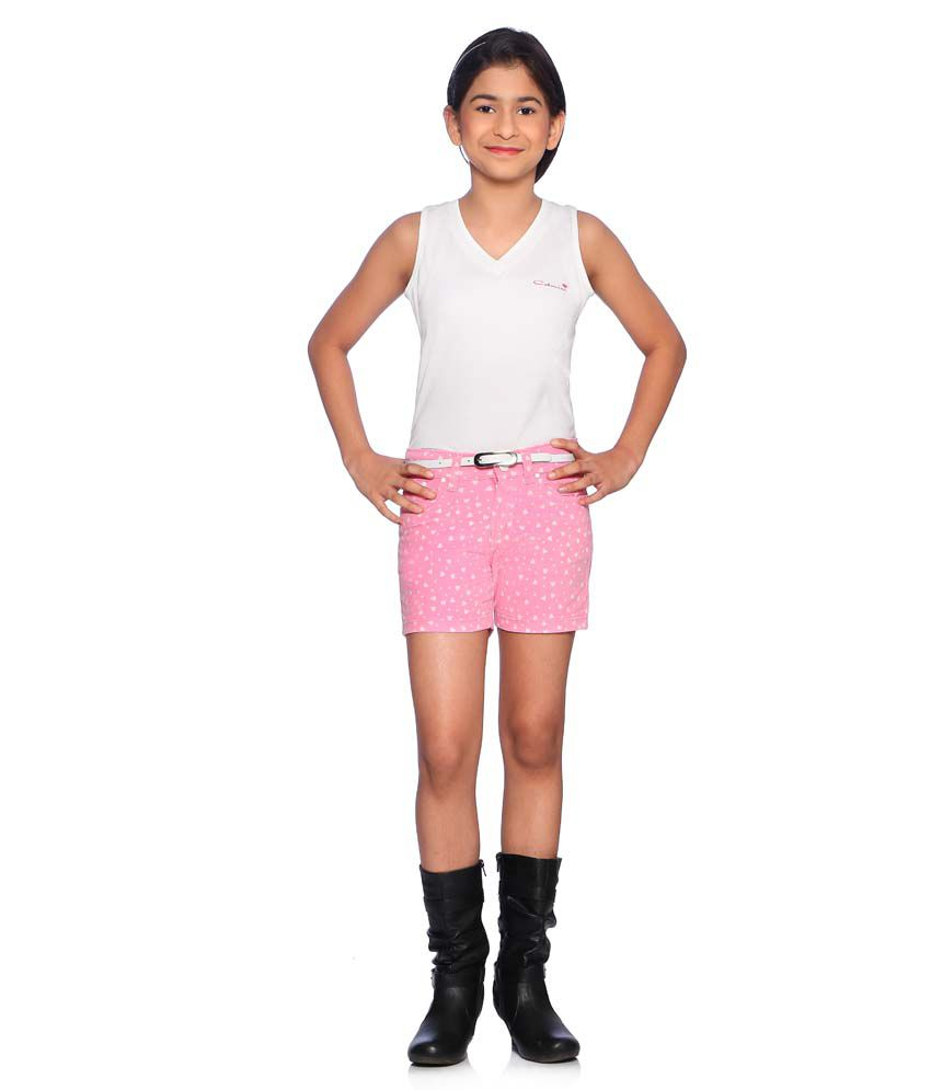 Clench Pink Shorts For Girls