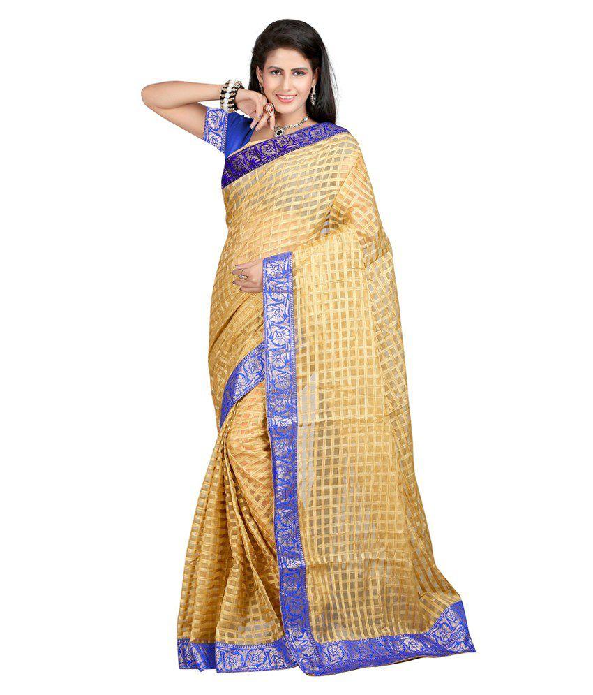 Shivam Saree Gold Jute Saree