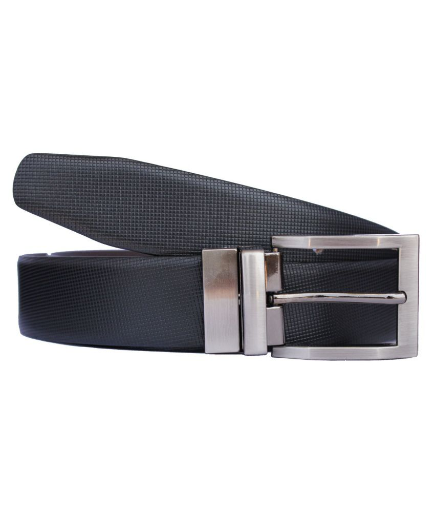 Discover Fashion Black Reversible Formal Belt For Men