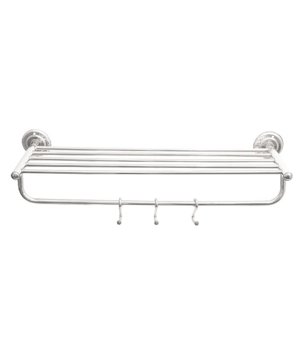 Buy EC White Stainless Steel Bathroom Fittings Towel Rod ...