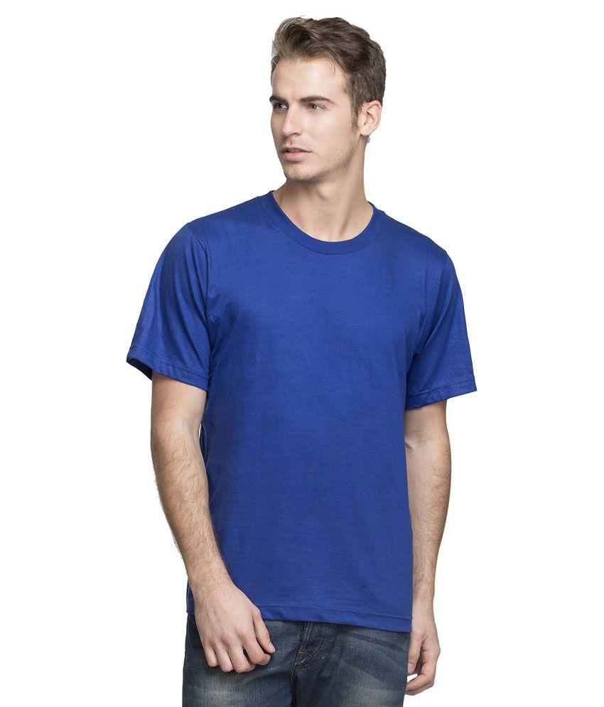 Rohini Garments Blue Cotton T-shirt
