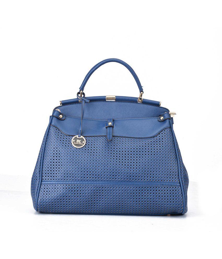 Diana Korr Blue Faux Leather Handheld