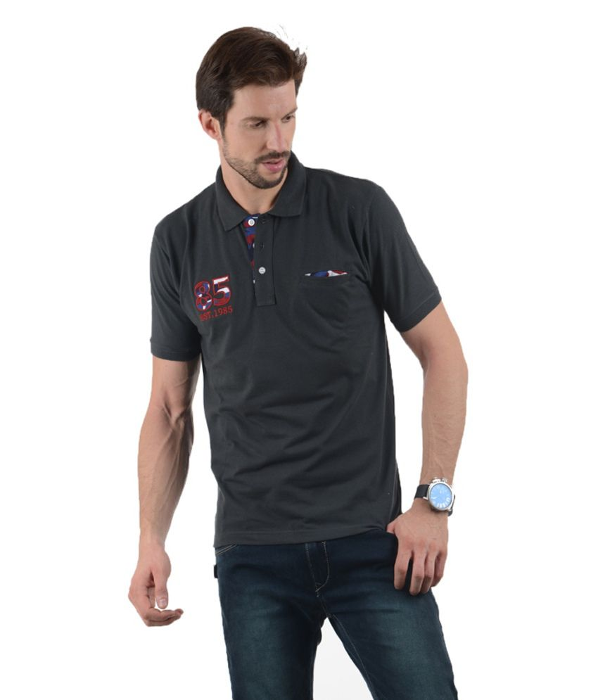 Tmo Black Half Basics Polo T-shirt