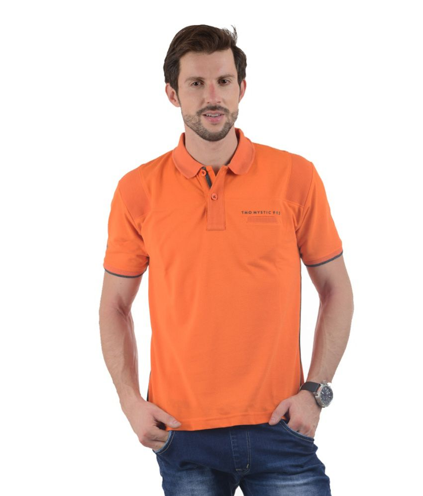 Tmo Orange Half Basics Polo T-shirt