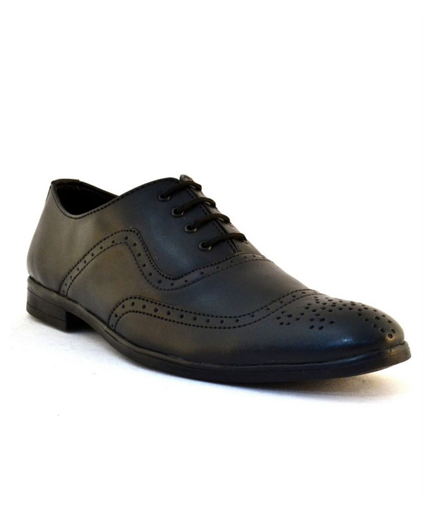 zoot24 black brogue formal shoes price in india buy