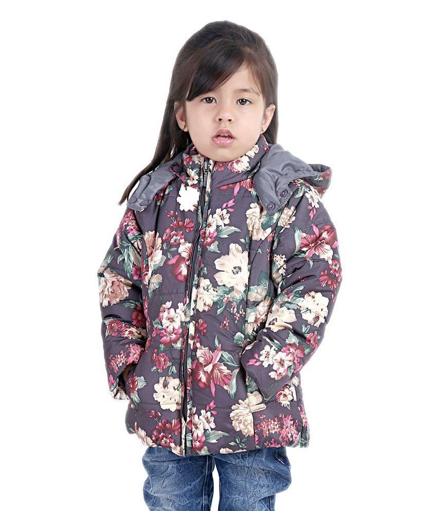 Beebay Multicolour Polyester Floral Design Winter Jacket