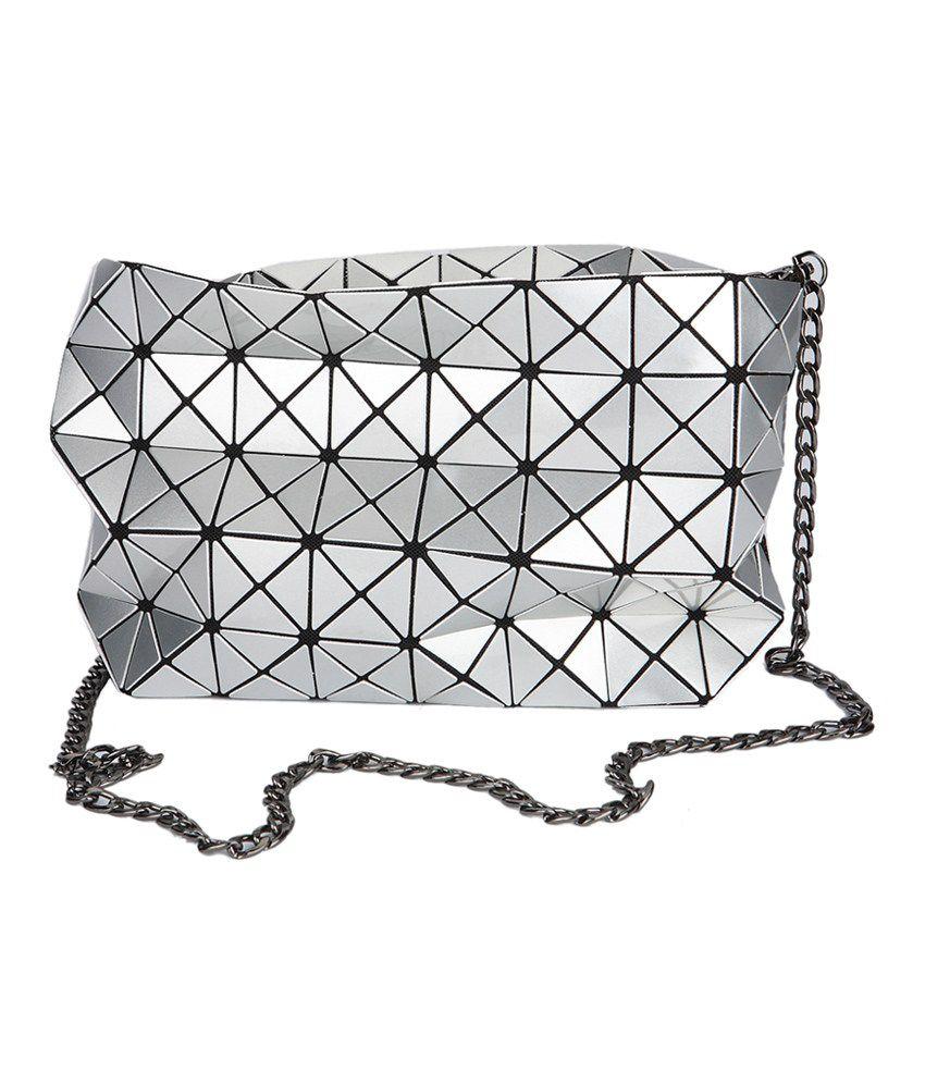 Fur Jaden Silver Sling Bag