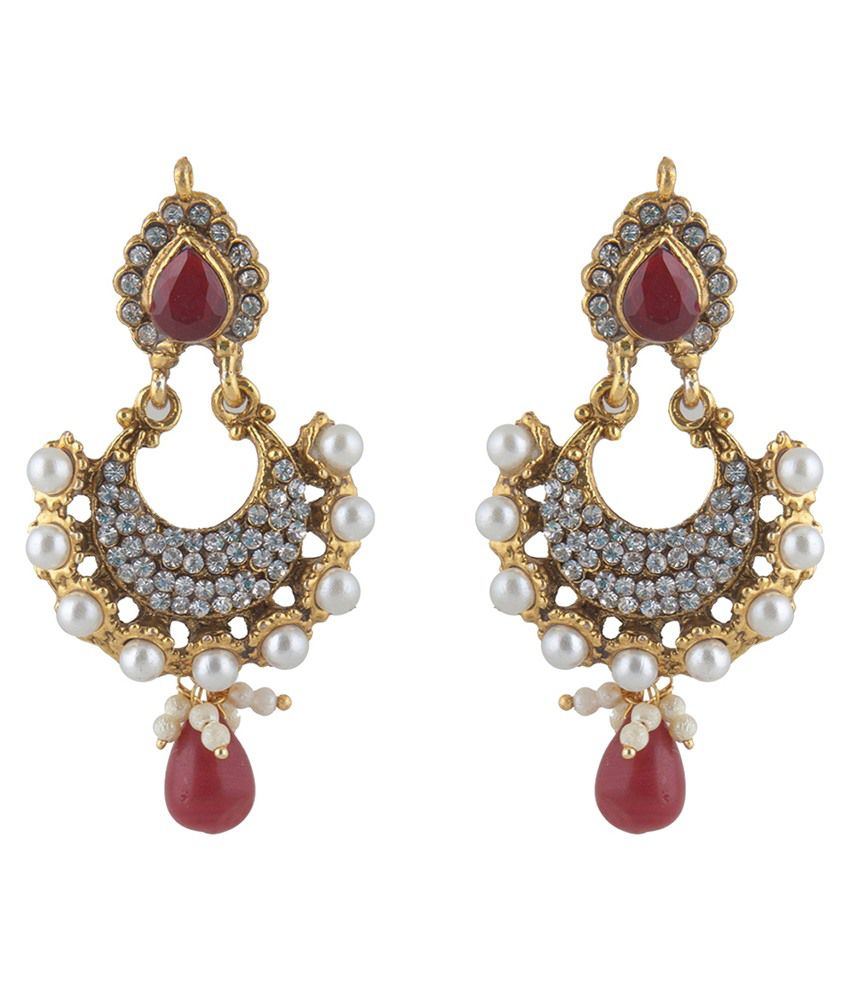 Inaya Multicolour Polki Stone Hanging Earrings