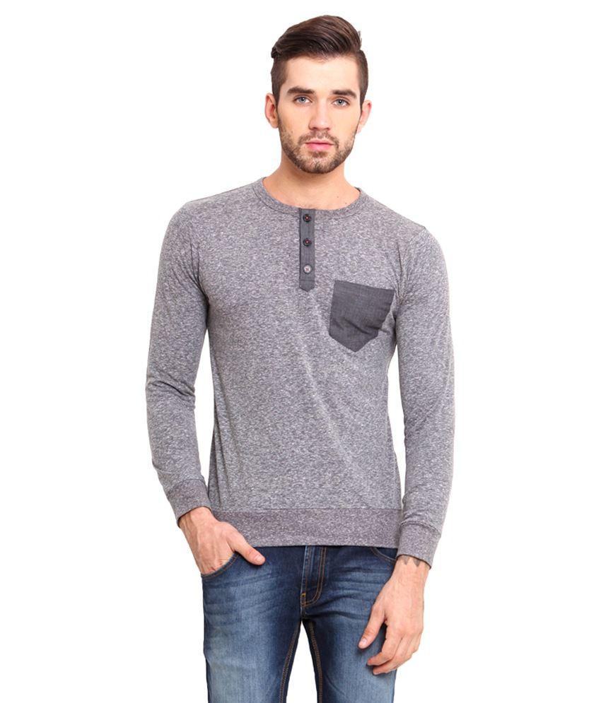 Western Vivid Grey Cotton T Shirt