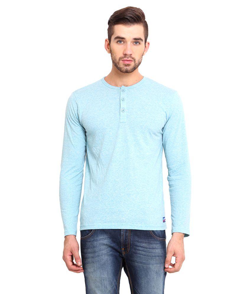 Western Vivid Turquoise Cotton T Shirt