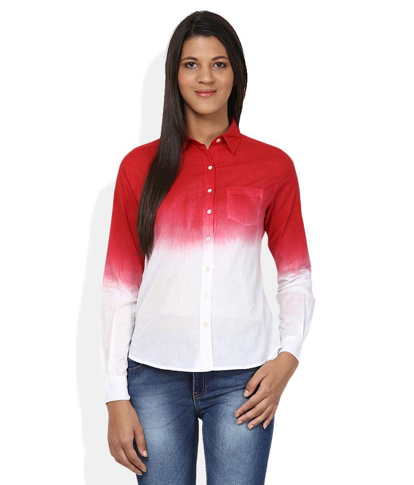 American Swan Red & White Shirt