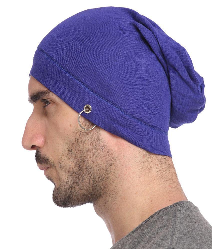 7237910b1be Gudluk Blue Cotton Santa Cap For Men