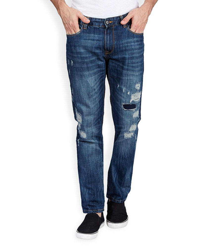 Locomotive Navy Regular Fit Jeans