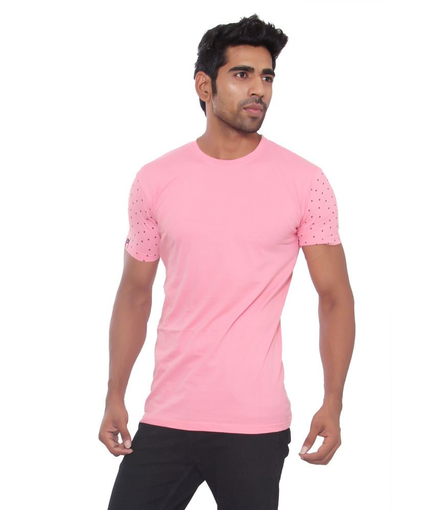 Osho Fashion Concepts Pink Cotton T-Shirt