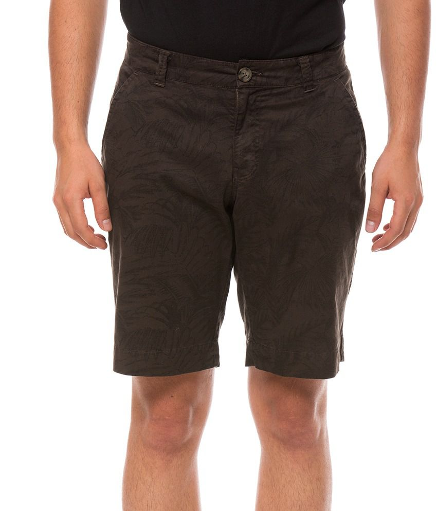 Shuffle Brown Solids Shorts