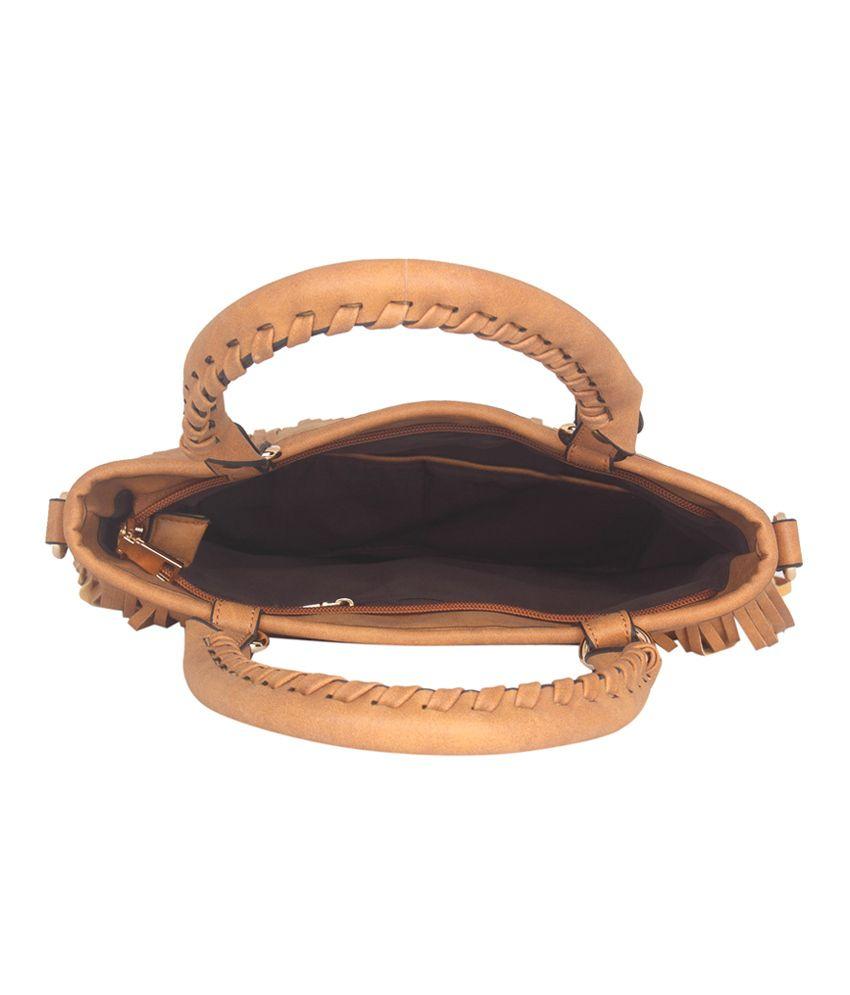 Fur Jaden Tan Tote Bag - Buy Fur Jaden Tan Tote Bag Online at Best ... 953bf0e513