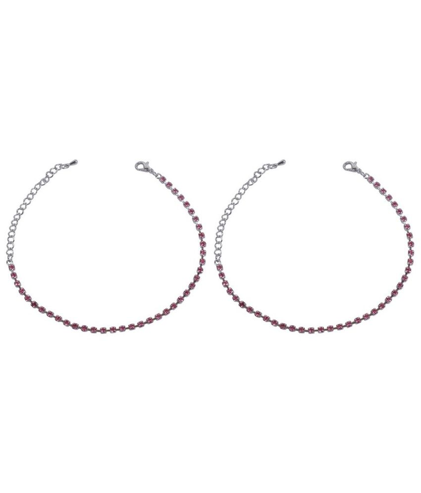 Much More Unique Fashion Design Silver Plated Crystal Made 1 Pair Fashion Anklet For Women Jewelry