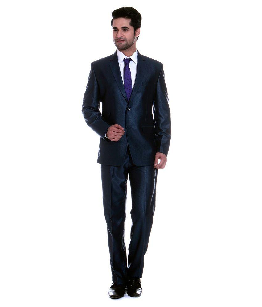 Tag 7 Blue Poly Blend Formal Wear 2 Piece Suit