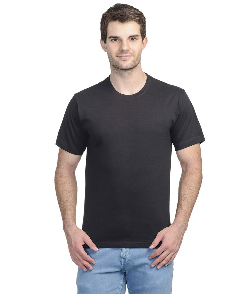 Shri Balaji Garments Black Cotton T-shirt