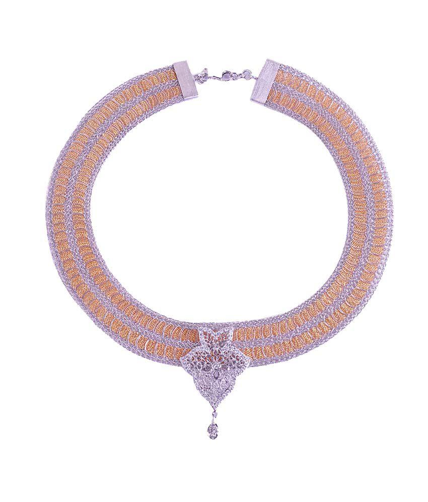Silver Poetry Silver Contemporary Necklace Set