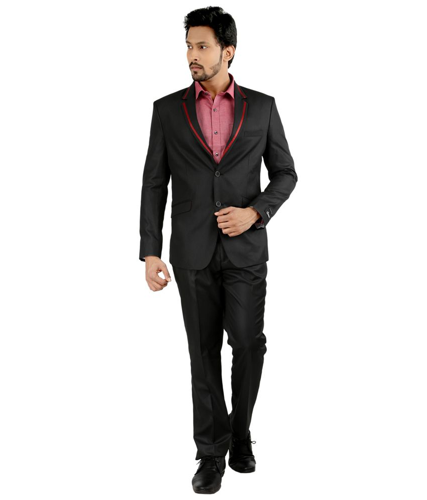 Oxemberg Black Poly Viscose Suit
