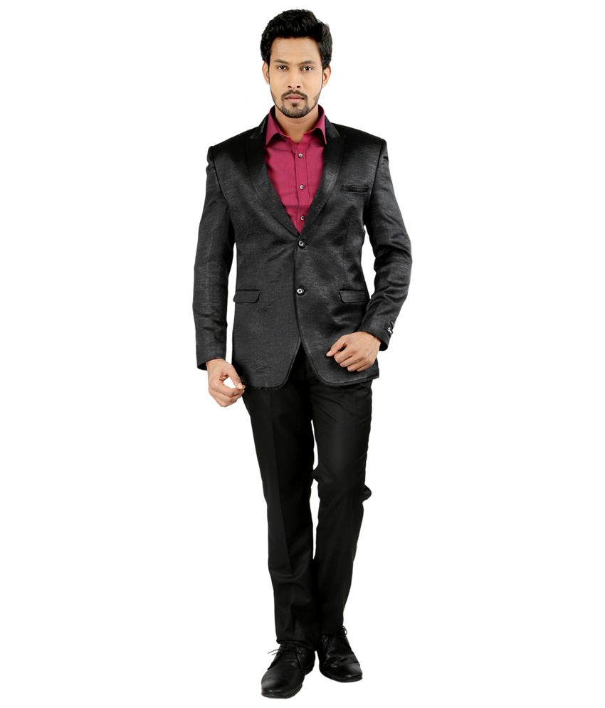Oxemberg Black Polyester Suit