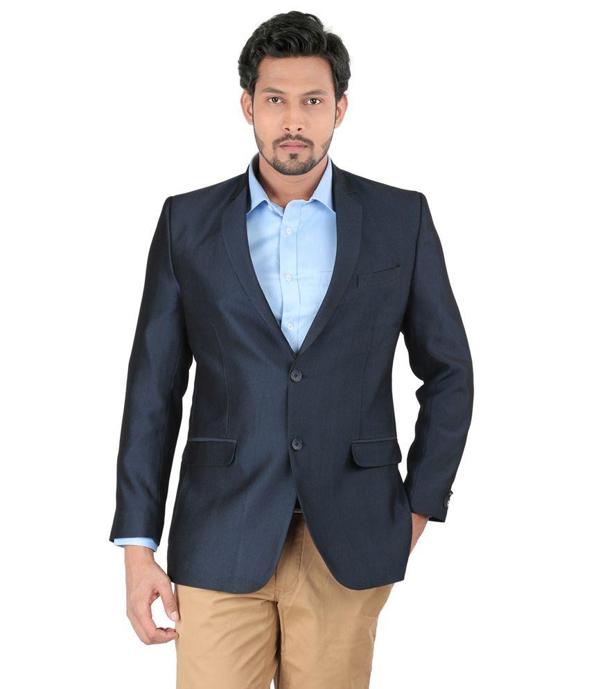 Oxemberg Blue Polyester Blazer