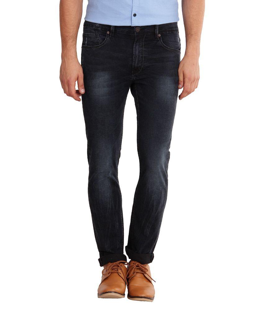 Sting Blue Cotton Slim Fit Jeans